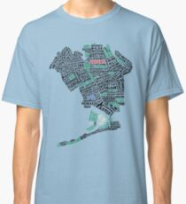 Queens New York Map Typography Classic T-Shirt