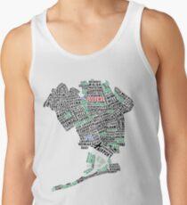 Queens New York Map Typography Tank Top