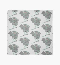 Queens New York Map Typography Scarf