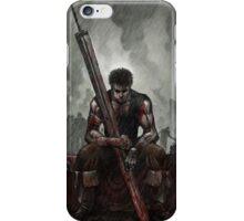 Guts - The Black Swordsman - Berserk - After Battle iPhone Case/Skin
