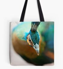 Peacock up close and personal Tote Bag
