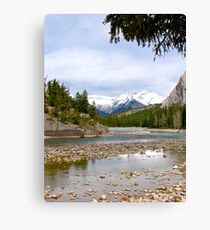Bow River, Banff , Alberta Canada Canvas Print