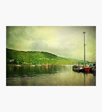 Harbour Life, Ullapool In Scotland. Photographic Print
