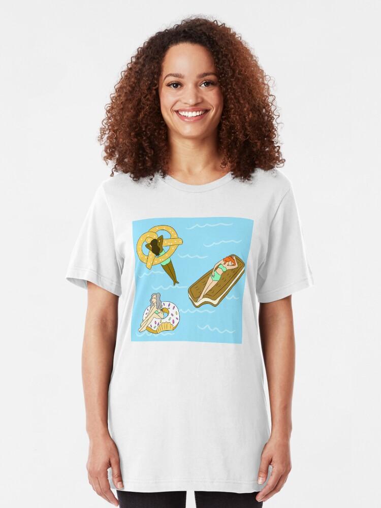 Alternate view of Foodie Pool Party Slim Fit T-Shirt