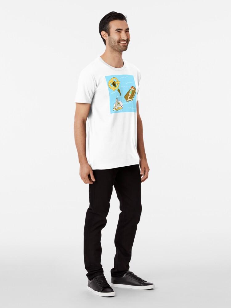 Alternate view of Foodie Pool Party Premium T-Shirt