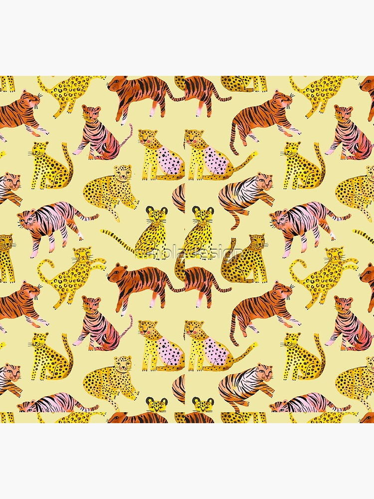 Tigers and Leopards Africa Savannah by ninoladesign
