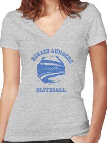 Besaid Aurochs Blitzball Women's Fitted V-Neck T-Shirt