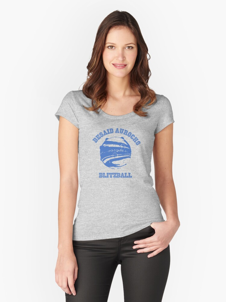 Besaid Aurochs Blitzball Women's Fitted Scoop T-Shirt Front