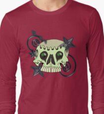 Skull with spirals & stars Long Sleeve T-Shirt