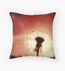 The Red Dandelion Throw Pillow