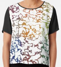 Colorful Doodles Chiffon Top