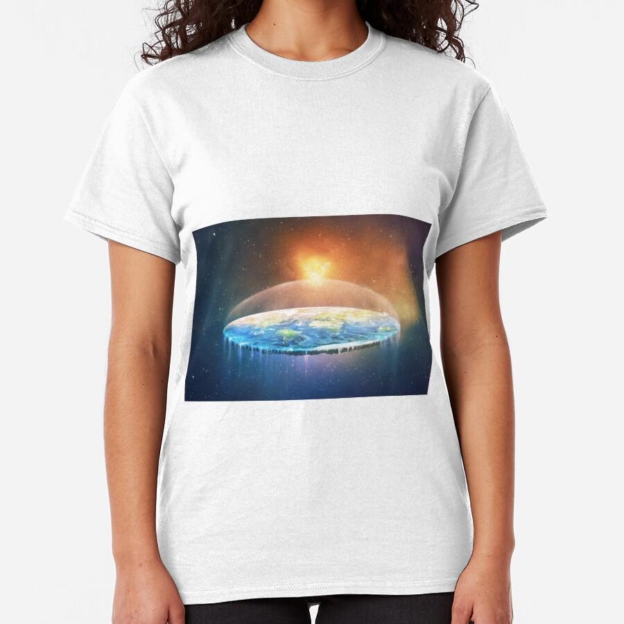 Flat Earth #FlatEarth Classic T-Shirt