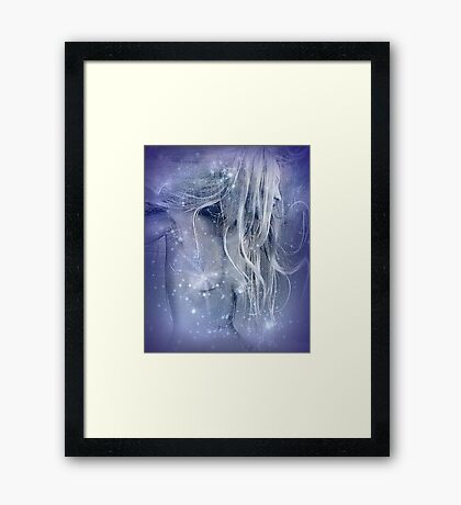 Snow Squall: Framed Print