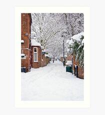 Madan's Walk in the Snow (1) Art Print