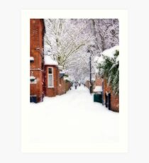 Madan's Walk in the Snow (2) Art Print