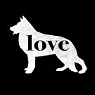 German Shepherd Dog Love - A Minimalist Distressed Vintage Style Design for Dog Lovers by traciwithani