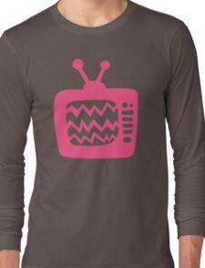 Vintage Pink Cartoon TV Long Sleeve T-Shirt