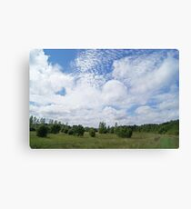 Rolling clouds over plains Canvas Print
