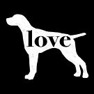 German Shorthaired Pointer Dog Love - A Minimalist Distressed Vintage Style Design for Dog Lovers by traciwithani