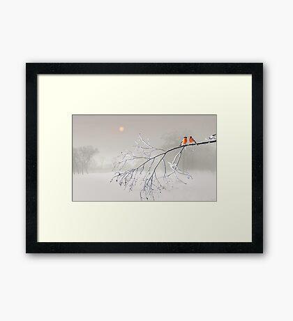 Whiteout Framed Print