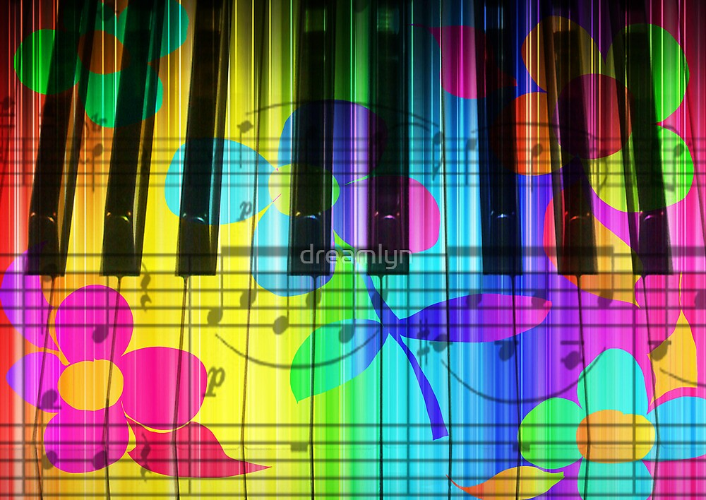 Quot Psychedelic Piano Keyboard And Flowers Quot By Dreamlyn
