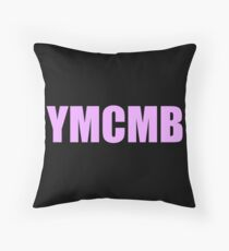 YMCMB print tumblr inspired Throw Pillow