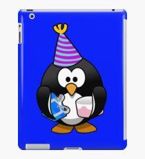 Personalized birthday card penguin geek funny nerd iPad Case/Skin