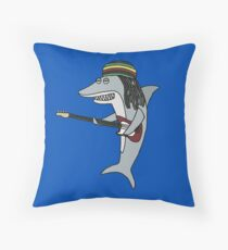 Reggae shark Throw Pillow