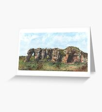 Caves of Caiplie, Fife Greeting Card