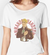Erwin button - Commander Handsome Women's Relaxed Fit T-Shirt