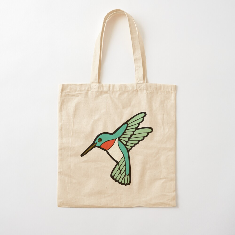 Hummingbird Pattern  Cotton Tote Bag