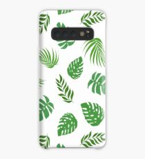 Tropical Leaves Case/Skin for Samsung Galaxy