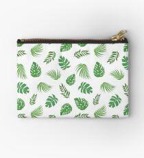 Tropical Leaves Zipper Pouch