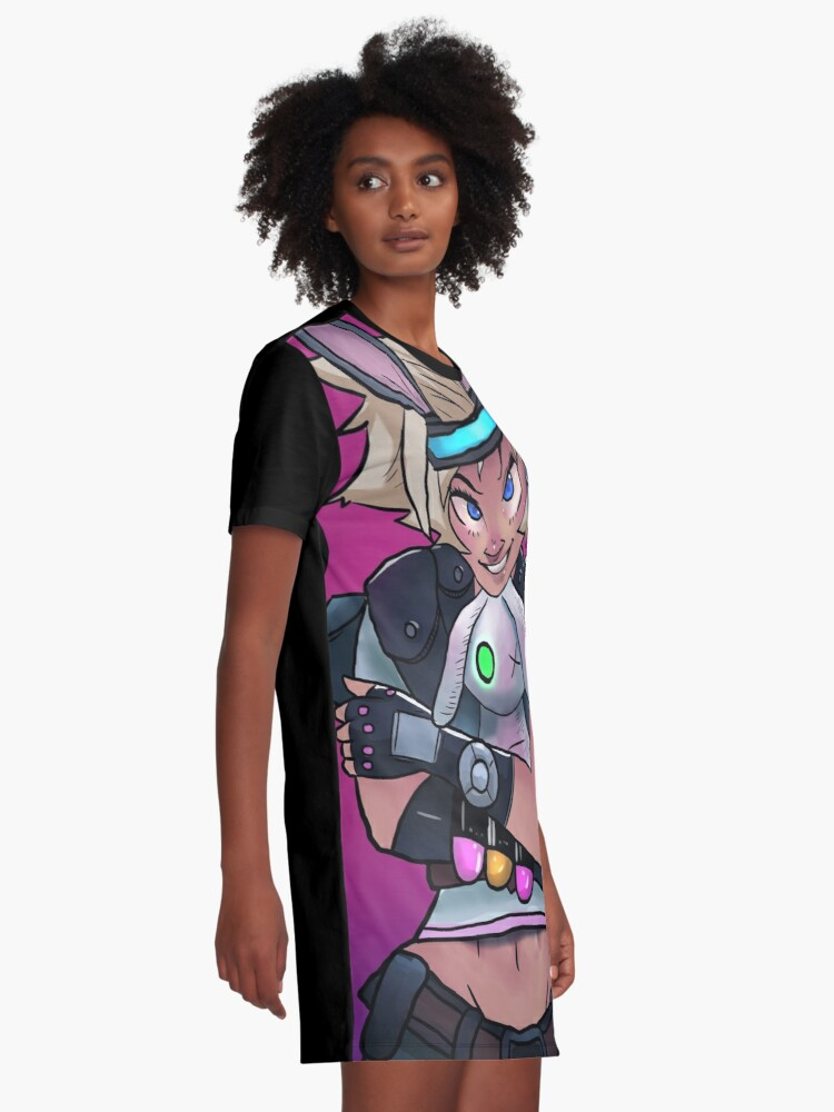 Alternate view of Not So Tiny Tina Borderlands 3 Graphic T-Shirt Dress