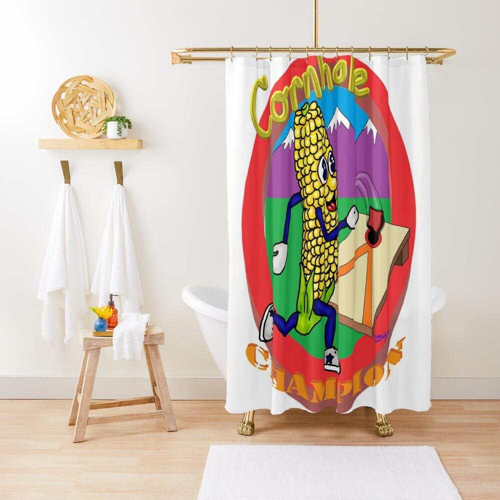 Cornhole Champion Shower Curtain