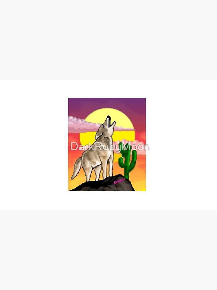 Coyote Sunset Version1 by DarkRubyMoon