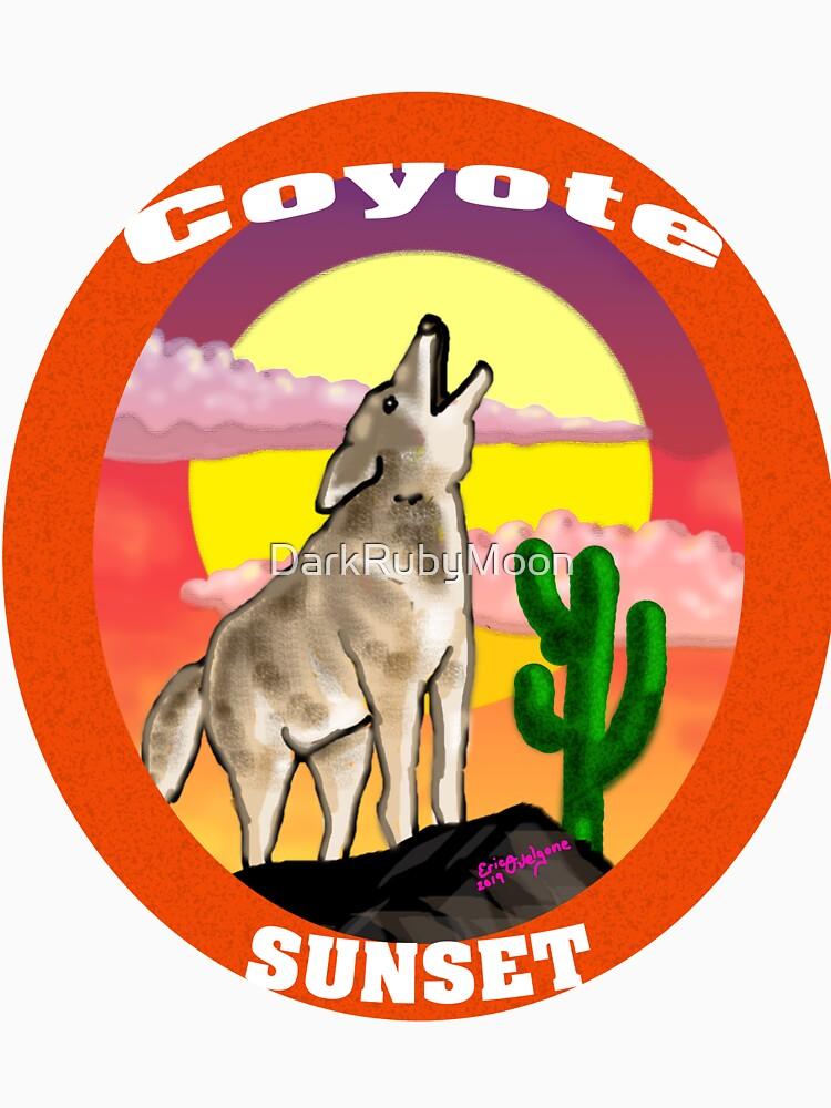 Coyote Sunset Version2 by DarkRubyMoon