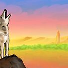 Coyote Sunset Version3 by DarkRubyMoon