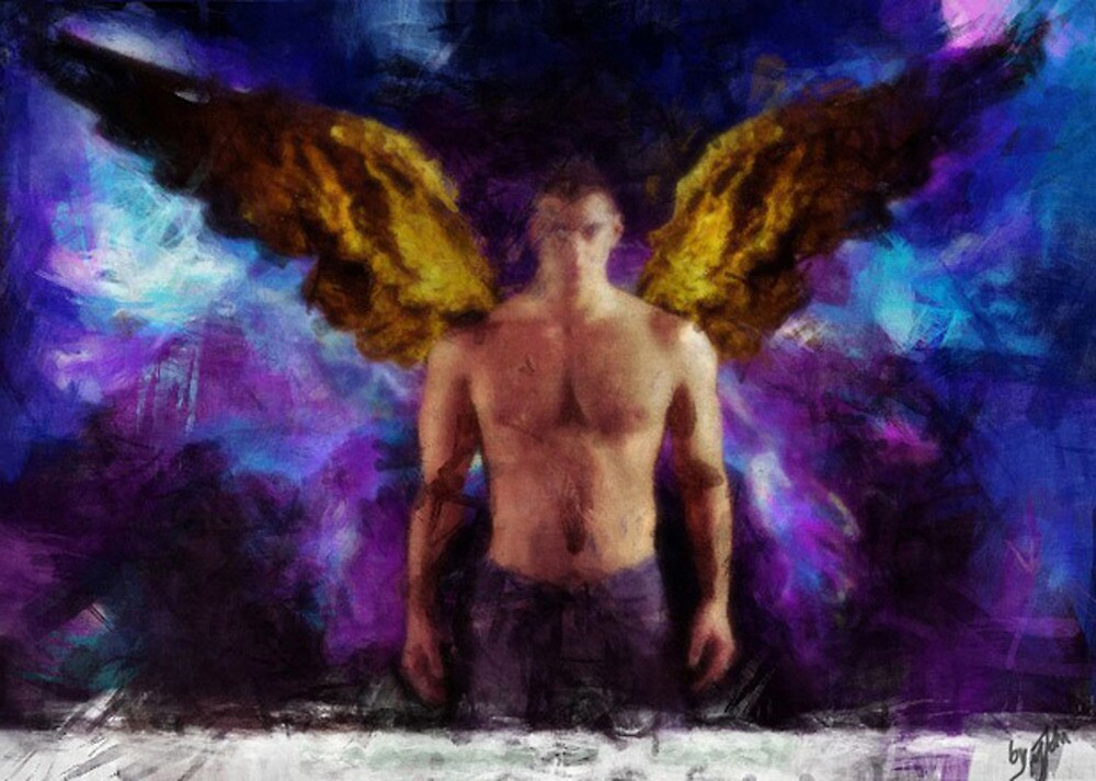 Gay Angel by shore | Redbubble