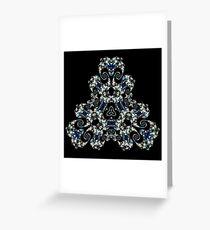 Fractal Trillium Greeting Card