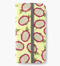 Dragon fruit on light background iPhone Wallet/Case/Skin