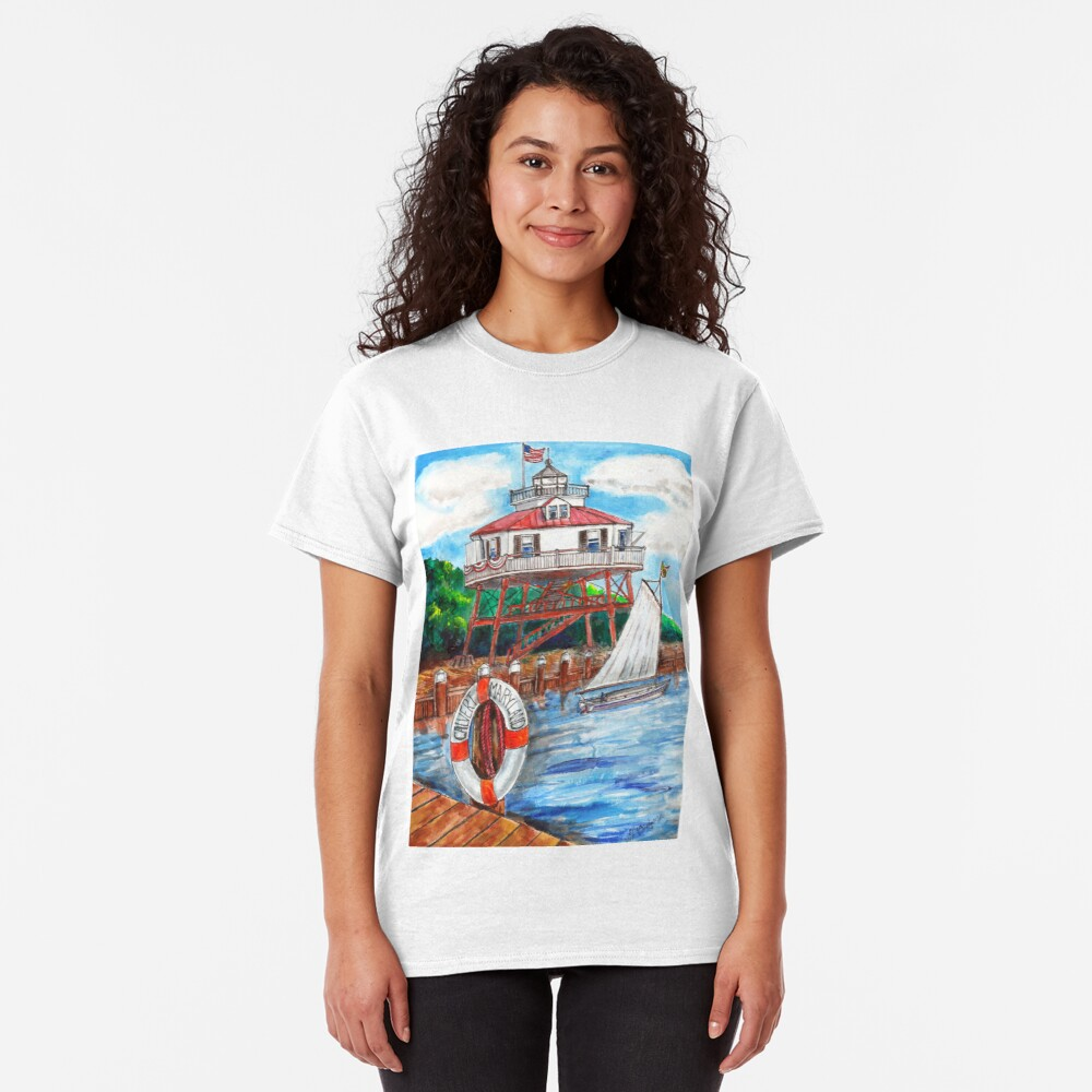 Drum point Lighthouse Calvert County Maryland Classic T-Shirt
