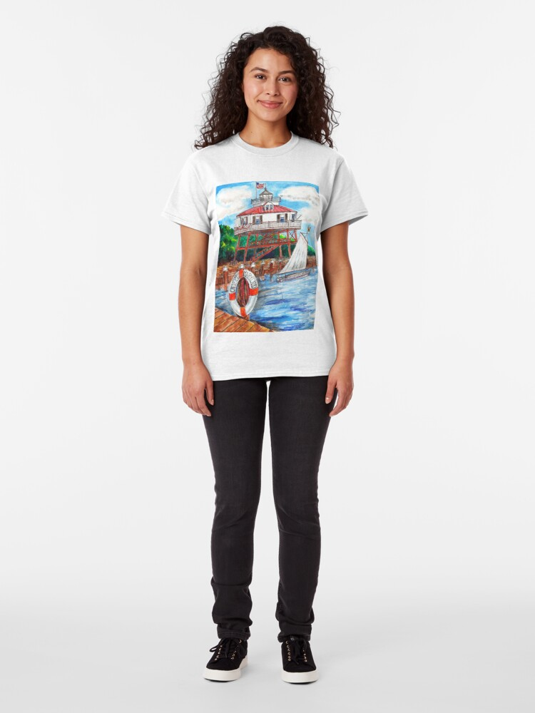 Alternate view of Drum point Lighthouse Calvert County Maryland Classic T-Shirt