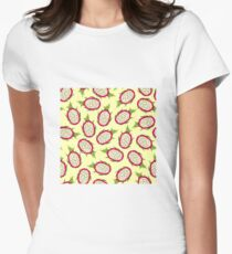 Dragon fruit on light background Fitted T-Shirt