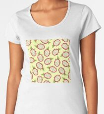 Dragon fruit on light background Premium Scoop T-Shirt