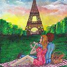 Picnic in Paris under Eiffel Tower by DarkRubyMoon