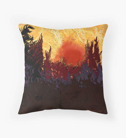 """""""Rising Sun  Throw Pillow"""