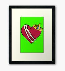 Queen of hearts geek funny nerd Framed Print