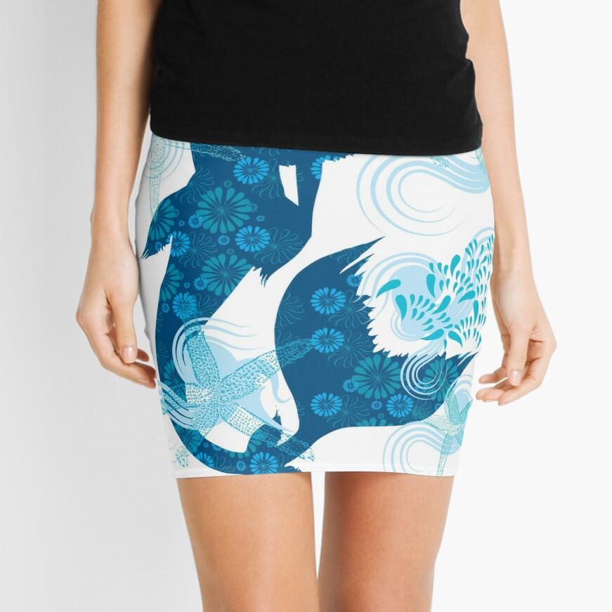 Mermaid Starfish Underwater Mini Skirt
