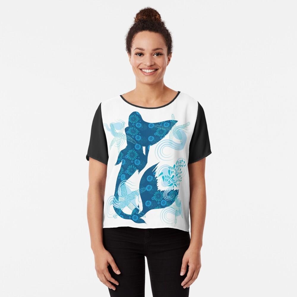 Mermaid Starfish Underwater Chiffon Top